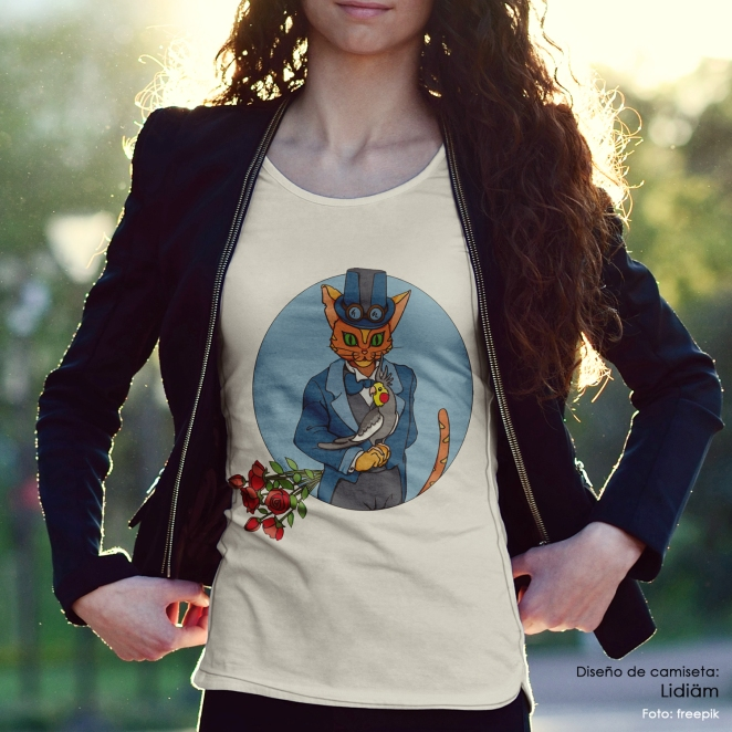 01 camiseta_gato_ninfa_diseno_lidiam