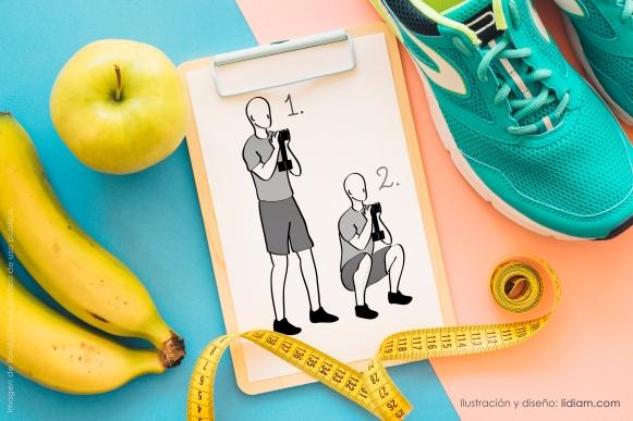 01 ilustraciones posturas gimnasio prevencion