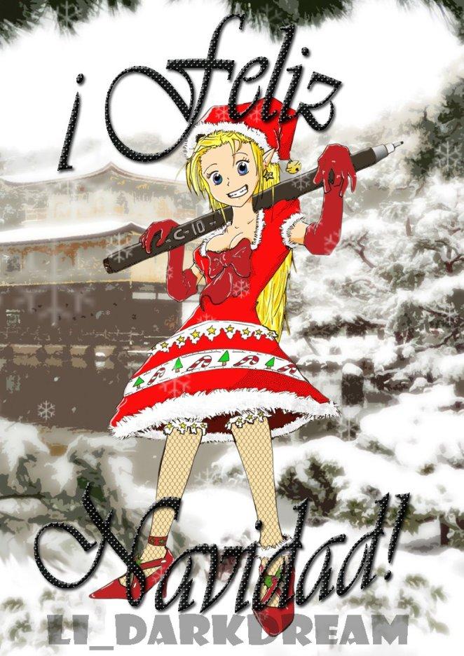 Chica manga navidad 2009